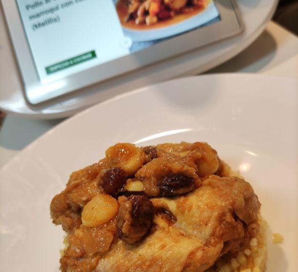 pollo al estilo marroquí con cuscus