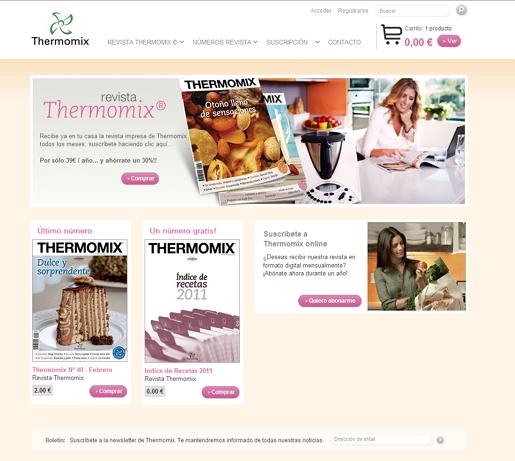SUSCRIBIRSE A LA NUEVA REVISTA Thermomix® ¡TIENE PREMIO¡