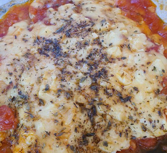 Pollo a la pizzaiola