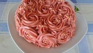 TARTA ROSAS BUTTERCREAM CON Thermomix®